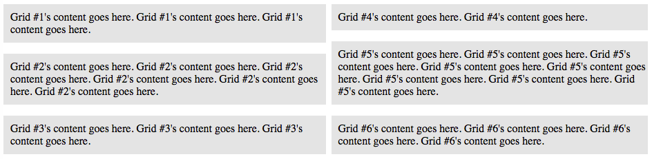 The End Result - Create Your Own Mobile Responsive Masonry (Pinterest Style) Content Grid