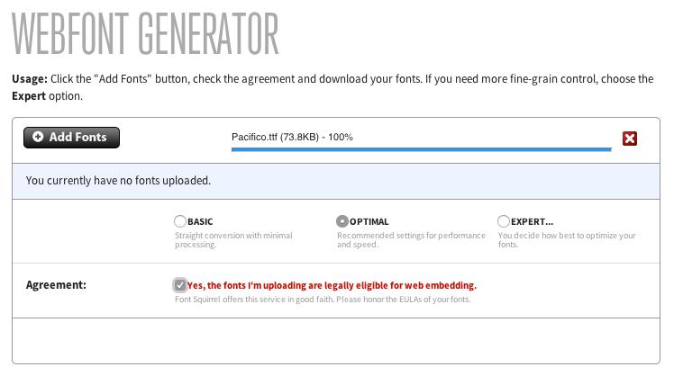 Web Font Generator