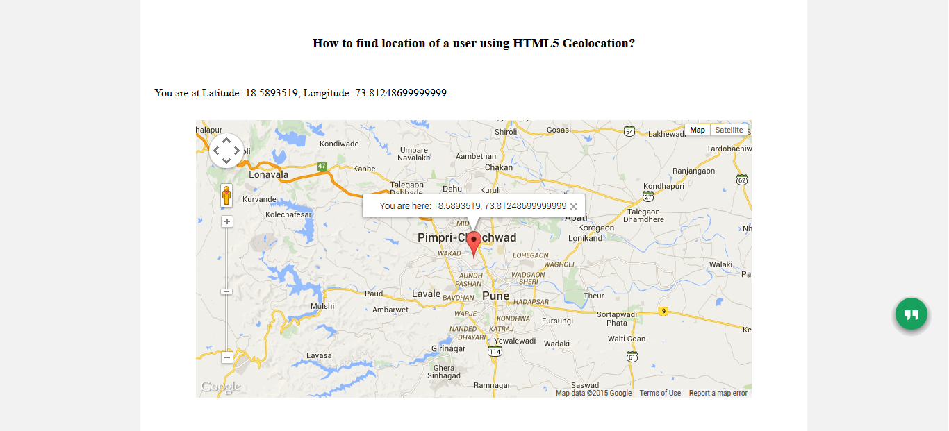 How To Use HTML Geolocation API A Detailed Tutorial Spice - Google map user location