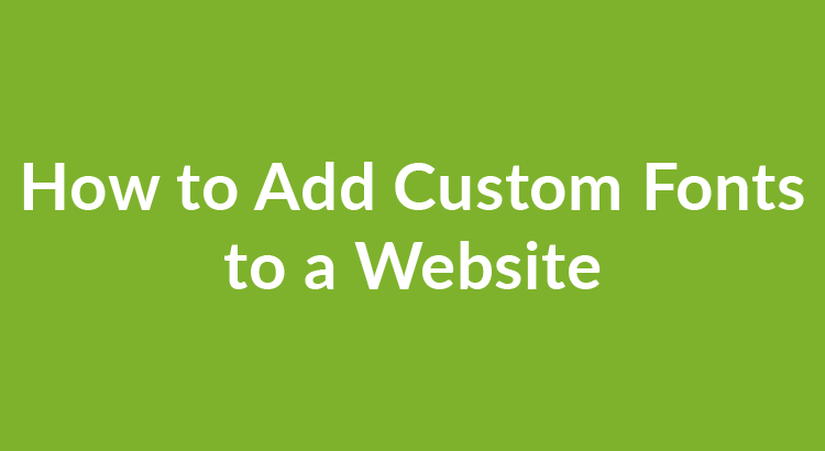 how to add custom font to website